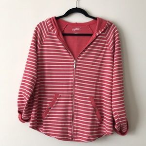 Style & Co Sweaters - Striped Zipper hoodie